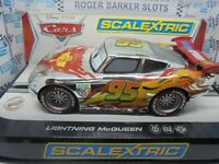 "Scalextric C3434 Lightning McQueen Disney ""Cars"" Chrome finish  BNIB"