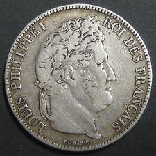 Ecu de 5 Francs - 1837 A LOUIS-PHILIPPE I - II° Type Domard - Tranche relief N°2
