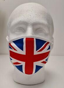 Union Jack Face Mask Lightweight Quality Adult Triple Layer Washable UK 1 size