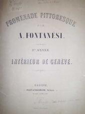 Promenade Pittoresque par FONTANESI Antonio. Intérieur de Genève. 20 litografie