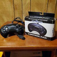 Sega Genesis Control Pad Black Original Gamepad Controller With Packaging/Box