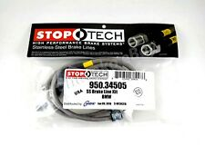 STOPTECH STAINLESS STEEL SS BRAIDED REAR BRAKE LINES FOR 99-06 BMW 3 SERIES E46