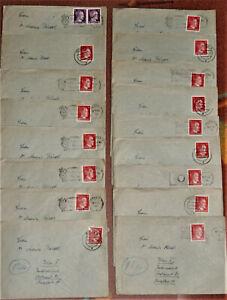 DR 1944 Posen 17 Belege teilw. m. Inhalt n. Wien (3489)