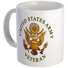 11 ounce Mug - US Army Veteran Mug - S White ""