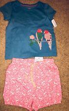Nwt Mini Boden Bird Appliqué Shirt Top Outfit Set Size 18-24 M & 12-18 M
