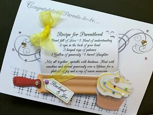 Personalised Handmade 'Parents~ to ~be Recipe' Card