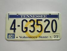 AUTHENTIC 1977 TENNESSEE LICENSE PLATE