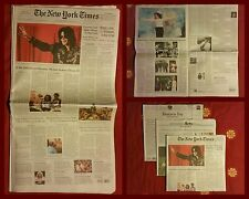 New York Times Michael Jackson morte - MJ dead death NYT newspaper (2009)