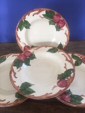 Franciscan Dinnerware APPLE (6) Rimmed Soup Bowls USA