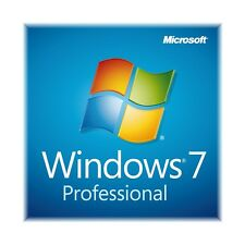 Windows 7 Professional COA Sticker/Product Key/Code w/ Disc w/ Desktop 32/64