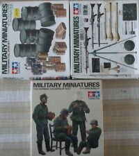 +++ GERMAN SOLDIERS & EQUIPMENT + 1/35 SCALE KITS by TAMIYA +++