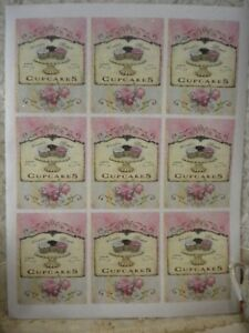 Shabby Chic World's Best Cupcakes Labels for Bottles / Boxes (9)