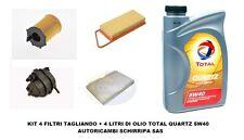 KIT TAGLIANDO FILTRI + OLIO TOTAL 5W40 CITROEN C3 1.4 HDI 16V 66KW 8HY DAL 2002