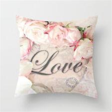 "Retro Rose Floral Print Cushion Covers Pillow Cases Home Sofa Decorative 18x18"""