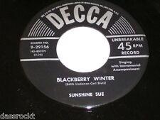 "7"" - Sunshine Sue / Please don´t spoil me & Blackberry Winter - US DECCA # 2766"