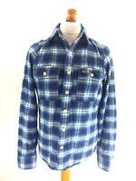 HOLLISTER Mens Shirt S Small Blue Check Cotton