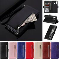 Zipper Slim Wallet Leather Flip Cover Case For Samsung A51 A50S A30S A10 S20 S10