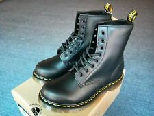 Schwarz Hart Weich Leder Reale Dr.Martens 8-Eye Classic Airwair 1460 Schuhe