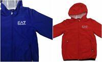 Giubbotto EA7 Emporio Armani 7 3ZBB01 EA Bambino Giacca Kway Rosso Blu Cappuccio