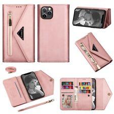Funda billetera de cuero con tapa para iPhone 11 Pro XR XS Max 8 7 6s Plus SE 2