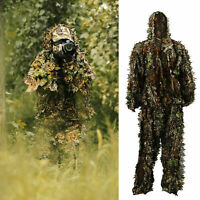 US 3D Ghillie Suit Set Sniper Train Leaf Jungle Forest Hunting Camouflage New