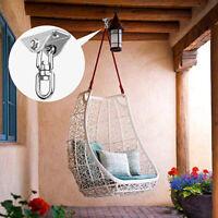 360° Hammock Hook Swing Chair Ultimate Hanging Stainless Steel 250kg Capacity US