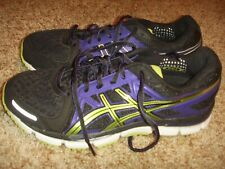 ASICS GEL NEO 33 Black Purple Green Running Womens Size 8.5