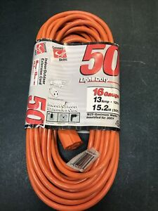 Commercial Electric 50ft Light Duty Extension Cord 16/3 Gauge
