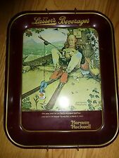 Normal Rockwell April Fools Day Collectors Metal Tray with Wall Hanger