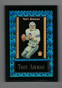 "Vintage 1994 6.5"" x 4.5"" Card Plaque Troy Aikman Dallas Cowboys #1"