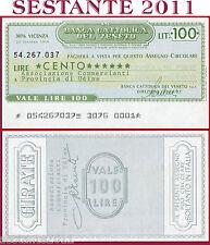 BANCA CATTOLICA DEL VENETO Lire 100 20.10. 1976 ASSOC. COMMERCIANTI  UDINE B74