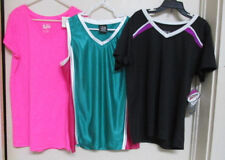 3 TOPS-BCG MULTI-COLORED & BLACK/JUSTICE PINK Size -YOUTH L 12-14 NEW WITH TAGS