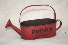 Wholesale stock job lot Decorative Small Tin Watering Can Labelled Parsley  x12