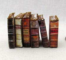 6 Miniature VINTAGE DISNEY Books Dollhouse 1:12 Scale Books PROP Faux Books