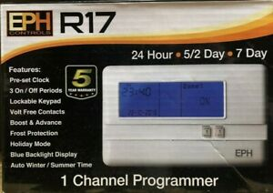 EPH R17 Single Channel Timeswitch - Standard Backplate