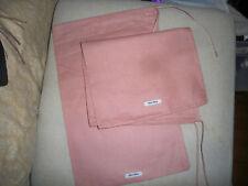 bfb778f0f64b Two Miu Miu Dusty Rose Linen Drawstring Dust Cover Travel Bag 9 x14