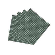 Patch Magic Green White Checks Fabric Napkin, 20-Inch by 20-Inch