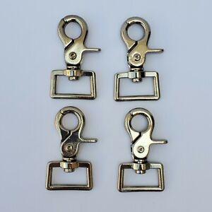 "1"" Silver Trigger Scissor Swivel Snaps 4-pcs Per Pack - US  Seller!"