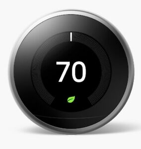 Google Nest Learning Thermostat 3rd Generation - Stainless Steel (T3007ES)