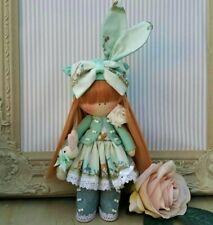 Rag doll handmade in UK Tilda doll Ooak doll Easter bunny HARRIET 8 inch tall