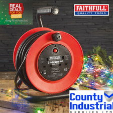 Faithfull Cable20 20m 240v open frame cable reel