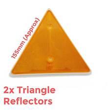 Triangolo Ambra Arancione 2 pezzi di grandi dimensioni Rimorchio Roulotte Posteriore Posteriore Camion Garage Muro