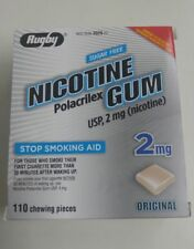 110 Rugby Sugar Free Nicotine Gum 2MG Original Expires: 12/19 Ships Free See Des