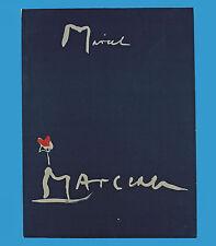 Originalmappe Hans Falk dibuja marcel marceau Alpha-prensa zurich 1959 #47/100