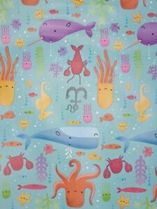 BUY2GET2FREE UNDER THE WATER, UNDER THE SEA 3M CHILDREN BIRTHDAY WRAPPING PAPER