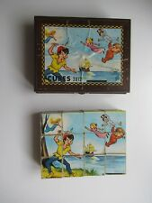 🎀Ancienne Boîte A Cube Peter Pan Garnier Cornil 12 Cubes Complet Disney Puzzles