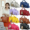 4PCS/Set Women Lady Leather Shoulder Bag Handbag Tote Purse Satchel Messenger