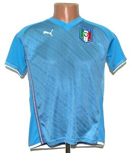 ITALY 2009 HOME FOOTBALL SHIRT JERSEY PUMA SIZE L BOYS CONFEDERATIONS CUP