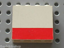 LEGO VINTAGE Panel with Red Pattern ref 4215ap03 / Set 6691 Red Cross Helicopter