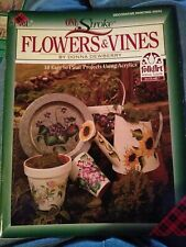 Donna Dewberry One Stroke Paint Book - #9243 FLOWERS & VINES Just Discounted!